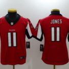 Youth kids Falcons #11 Julio Jones stitched football jersey red
