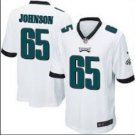 Men Philadelphia Eagles #65 Lane Johnson game jersey white