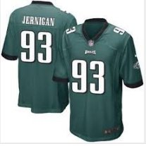 Men Philadelphia Eagles #93 Timmy Jernigan game jersey green