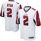 Men's Atlanta Falcons #2 Matt Ryan game jersey white