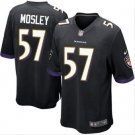 Men's Baltimore Ravens #57 CJ Mosley game Football jersey black