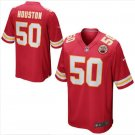 Men's KC Chiefs #50 Justin Houston game jersey red