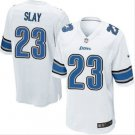 Men's Lions #23 Darius Slay game jersey white