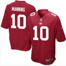 Men's NY Giants #10 Eli Manning game jersey red