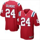 Men's Patriots 24 Stephon Gilmore game jersey red
