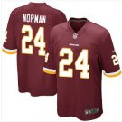 Men's Redskins #24 Josh Norman game jersey red