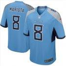 Men's Titans #8 Marcus Mariota game jersey light blue