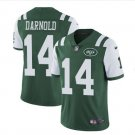 Men's New York Jets 14# Sam Darnold color rush Limited jersey green