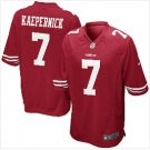 Mens San Francisco 49ers #7 Colin Kaepernick game jersey red