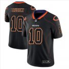 Men Bears #10 Mitchell Trubisky Black color rush Limited lights out jersey