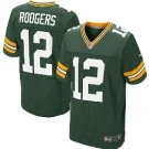 Men's Packers #12 Aaron Rodgers elite football jersey green