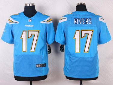Men's Charges #17 Philip Rivers elite football jersey light blue