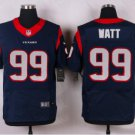 Men's Houtston Texans 99 J.J Watt elite jersey navy blue