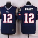 Men's Patriots 12 Tom Brady elite football jersey black