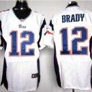 Men's Patriots 12 Tom Brady elite football jersey White