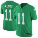 Men Philadelphia Eagles #11 carson wentz color rush Limited jersey green