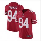 Men's 49ers #94 Solomon Thomas color rush Limited Jersey red