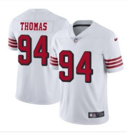low priced b98e8 64b56 Men's 49ers #94 Solomon Thomas color rush Limited Jersey black