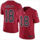 Men's Atlanta Falcons 18 Calvin Ridley color rush Limited jersey red