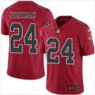 Men's Atlanta Falcons 24 Devonta Freeman color rush Limited jersey red