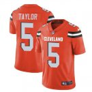 Men's Cleveland Browns #5 Tyrod Taylor color rush Football jersey orange