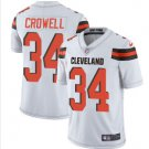 Mens Cleveland Browns #34 Isaiah Crowell color rush Limited Jersey white