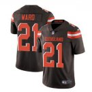 Men's Cleveland Browns 21 Denzel Ward color rush Limited jersey brown