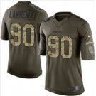 Men's Cowboys #90 DeMarcus Lawrence salute to service jersey green camo