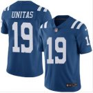 Men's Indianapolis Colts #19 Johnny Unitas color rush Limited jersey blue