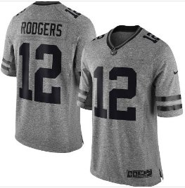 Men's packers 12 Aaron Rodgers gridiron gray Limited jersey