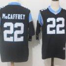 Men's Panthers 22 Christian Mccaffrey color rush limited jersey black