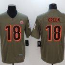 Men's Aj Green Cincinnati Bengals #18 salute to service jersey