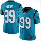 Mens Carolina Panthers #99 Kawann Short color rush Limited jersey blue