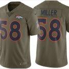 Men's Denver Broncos #58 Von Miller salute to service jersey olive