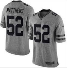 Mens Packers 52 Clay Matthews gridiron gray Limited jersey