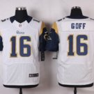 Men's Rams #16 Jared Goff elite football jersey white