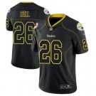 Men's Steelers #26 Le'Veon Bell Black color rush Limited lights out jersey