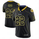Men's Vikings 22 Harrison Smith Black color rush Limited lights out jersey