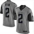 New Men's Falcons 2 Matt Ryan gridiron gray Limited jersey