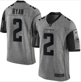 New Men's Falcons 2 Matt Ryan gridiron gray Limited jersey