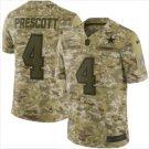 Men's Cowboys #4 Dak Prescott Salute to Service Limited Jersey Camo NEW