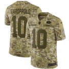 Men's 49ers 10# Jimmy Garoppolo Salute to Service Limited Jersey Camo NEW