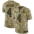 Men's Texans 4# Deshaun Watson Salute to Service Limited Jersey Camo NEW