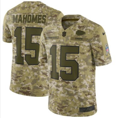 Men's Chiefs 15# Patrick Mahomes II Salute to Service Limited Jersey Camo NEW