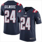 Men's Patriots #24 Stephon Gilmore Color Rush Limited Jersey navy blue
