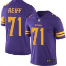 Men's Vikings #71 Riley Reiff color rush Limited jersey purple NEW
