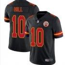 Men's Kansas City Chiefs #10 Tyreek Hill color rush Limited Jersey BLACK
