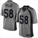 Men's Denver Broncos 58 Von Miller gridiron gray Limited jersey