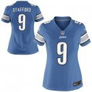 Women's Detroit Lions #9 Matthew Stafford game jersey blue