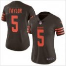 Women's Cleveland Browns #5 Tyrod Taylor football jersey brown